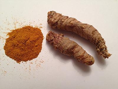 épice, asiatique, au curry, assaisonnement, en bonne santé, saveur, curcuma