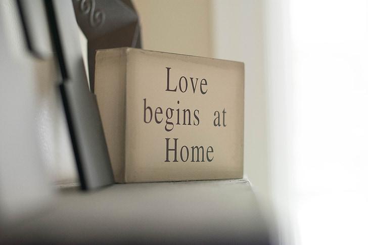 amor, Inicio, familia, feliz, cuidado