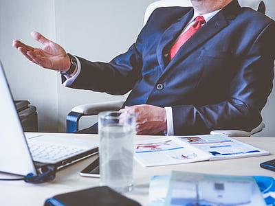 adult, blur, boss, business, career, chair, close-up