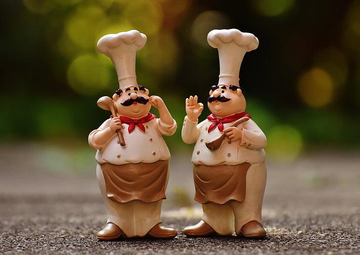 Köche, Zahlen, lustig, Kochen, Gastronomie, Restaurant