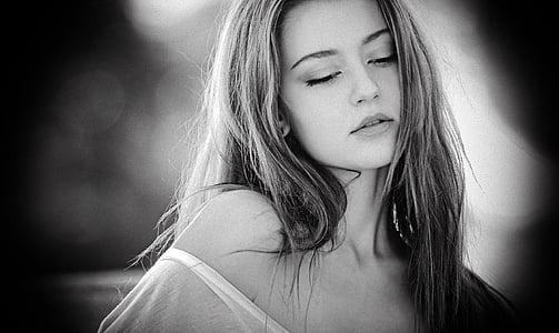 портрет, Дівчина, ліс, відкритий, людини, жінка, Краса