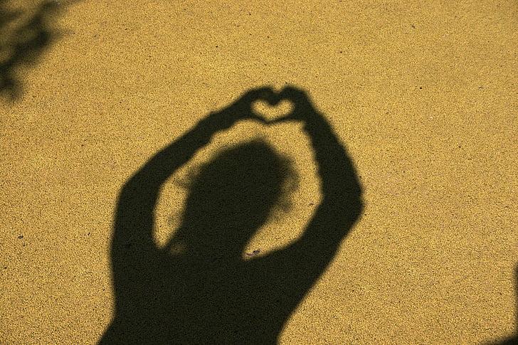 skyggespil, venskab, Kærlighed, hjerte, sammen, symbolik, følelser