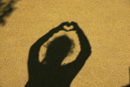 ombres xineses, l'amistat, l'amor, cor, junts, simbolisme, sentiments