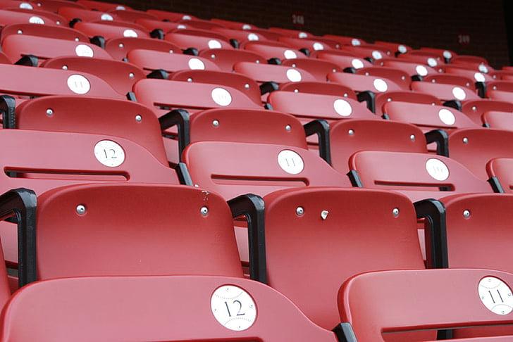 Aforament d'estadi, d'estar, seients, Estadi, àmbit, esports, vermell
