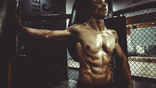 cilvēki, vīrietis, seksīgs, muskuļu, fitnesa, veselības, ABS