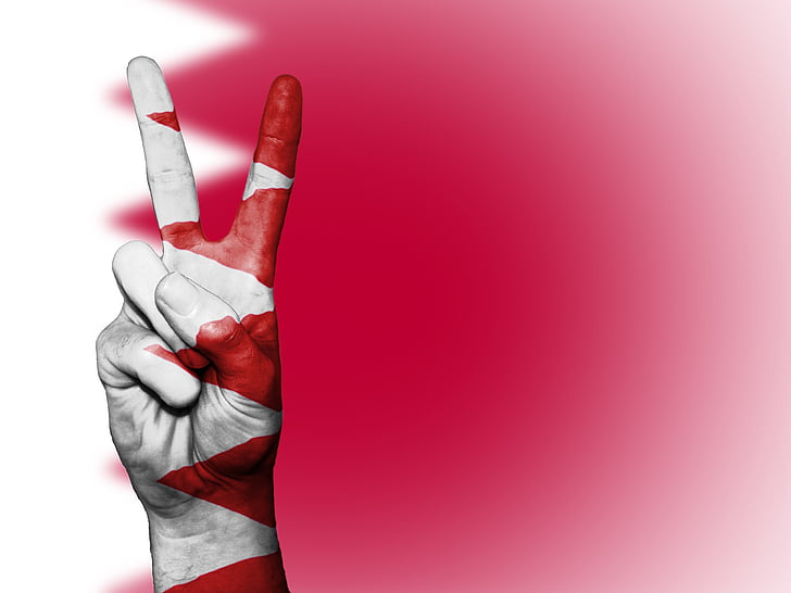 bahrain, flag, peace, background, banner, colors, country