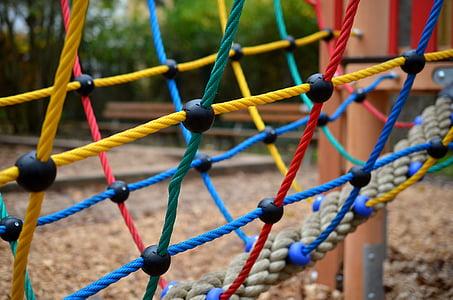 network, playground, game device, children's playground, climb, play, balance