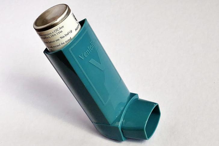 l'asma, ventolin, respirar, inhalador, medicació, salut, malaltia