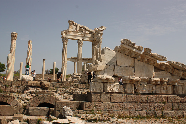 pergamon, historical works, turkey, ancient city, historical city, architecture