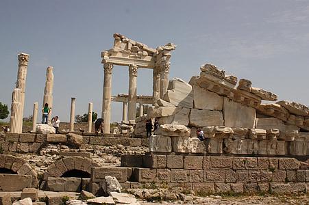 pergamon, historical works, turkey, ancient city, historical city, architecture