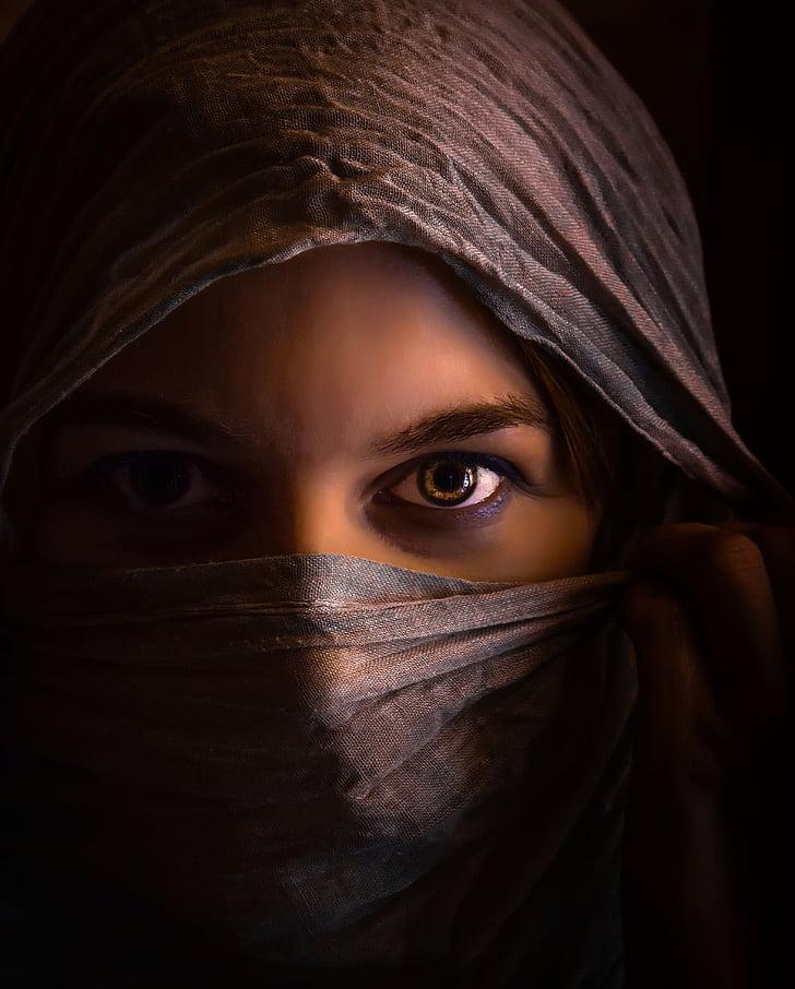 naine, Tüdruk, Verhoama, tajomná, saladus, Orient, mõistatus