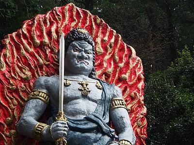 Buddha, socha Buddhy, Japonsko, Buddhismus, kamenné sochy, Acala, socha