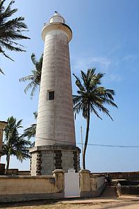 Lighthouse, Galle, Fort, Sri, Lanka, Ceylon