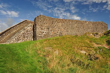 Llac dusia, pedra, mur de pedra, Monument, vell, històric, les ruïnes de la