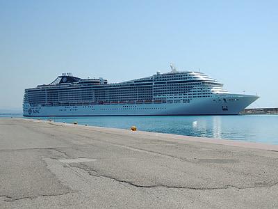 Grekland, Olympia, havet, kryssning, båt, fartyg, Medelhavet