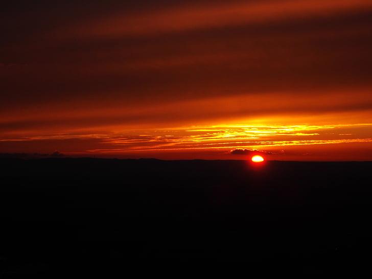 salida del sol, puesta de sol, sol, posluminiscencia, morgenrot