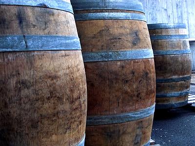 barriques, vin, Keller, baril, tonneaux en bois, vin rouge, tonneau de vin