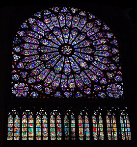 vidre, color, vitralls, París, França, Catedral, Lourdes