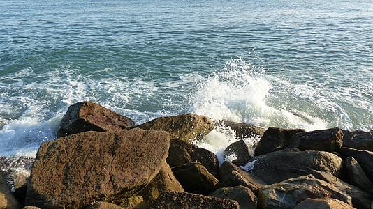 navegar per, Atlàntic, ona, esprai, escuma de mar