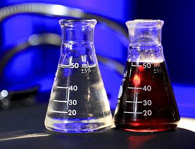 flesjes, wetenschap, vloeistoffen, Ionische, nationaal laboratorium, technologie, onderzoek