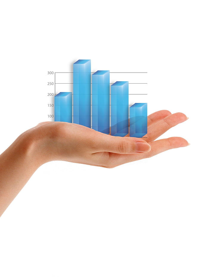 graph, hand, chart, business, isolated, data, information