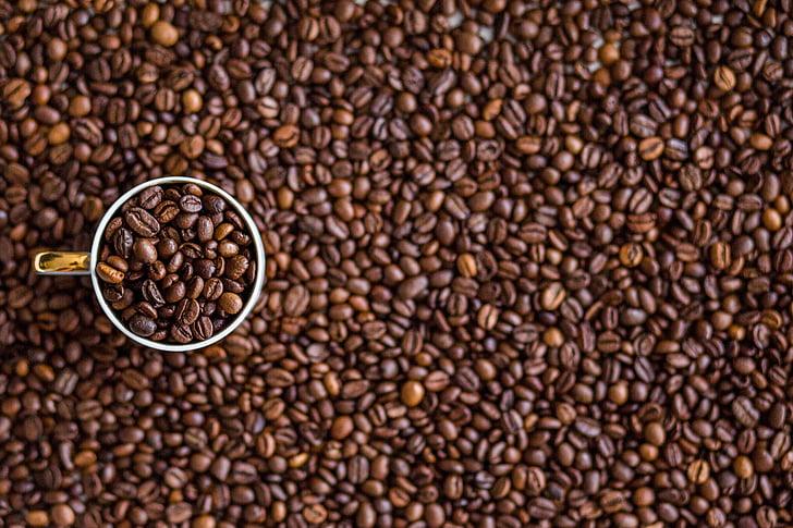 cafè, grans de cafè, beguda, cafeïna, begudes, marró, cafè exprés