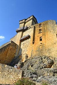 Castell, castell medieval, mur de pedra, Château de castelnaud, Capella de castelnaud, l'edat mitjana, Dordonya
