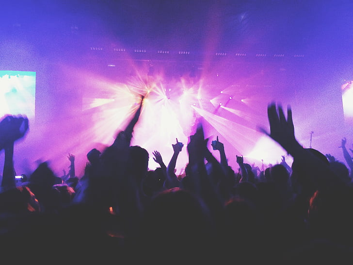 crowd, dancing, rave, party, night, time, concert
