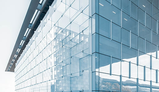 clear, curtain, walled, high, rise, building, glass - material