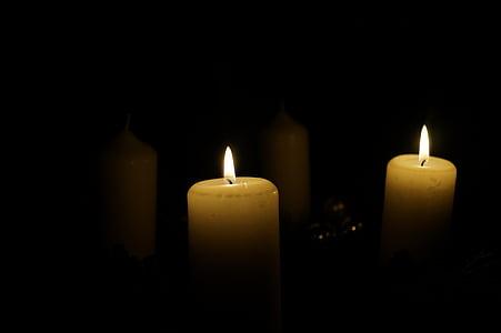 Adventi koszorú, második gyertya, gyertyák, Advent, Karácsony, Karácsony, december