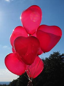 globus, cor, l'amor, Romanç, romàntic, relació, vermell