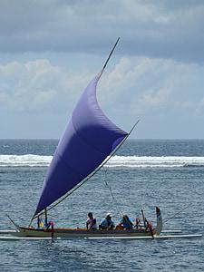 dragon boat, boot, sailing boat, water, sea, lake, bali