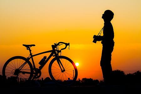nữ hoàng s, bóng tối, xe đạp, cuộc sống, mùa hè, như trẻ em, tối