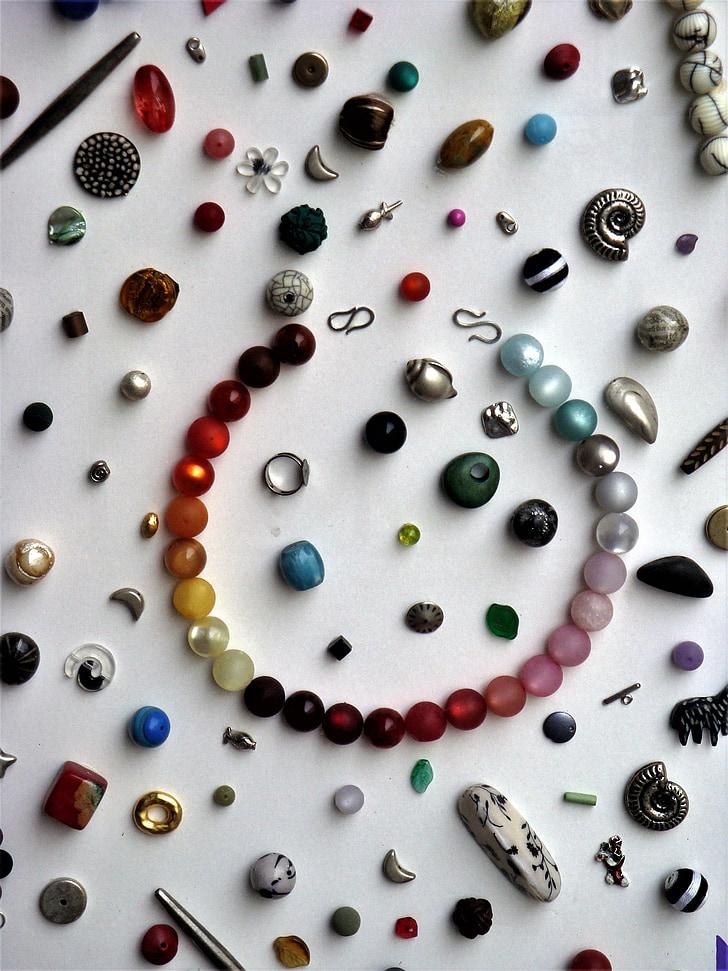 Mücevherat ve mucevherler, boncuk, taşlar, Kolye