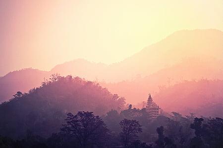 templet, Rishikesh, Indien, hinduiska, heliga, Hinduism, Asia