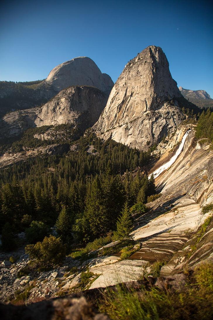 yosemite, mountains, forest, nature, mountain, scenics, landscape