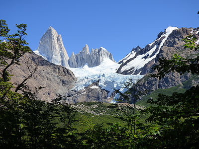 Chaltén, Fitz roy, Mountain, Argentina patagonia, naturen, Argentina, södra argentina