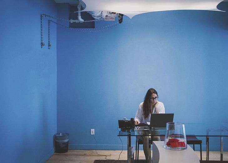 ľudia, žena, Dioptrické okuliare, laptop, Technológia, Tabuľka, Izba