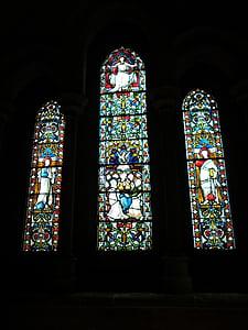 vitralls, vidre, finestra, l'església, vidrieres, Vitrall, religiosos