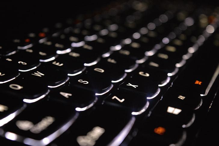 klávesnica, počítač, Windows, Počítačová klávesnica, Technológia, komunikácia, Vybavenie