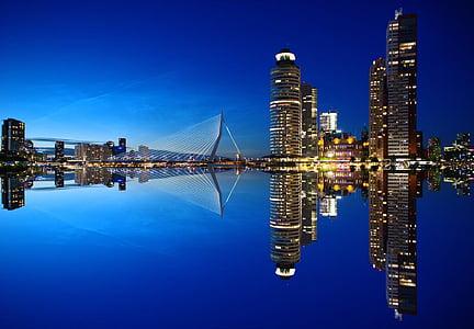 Rotterdam, horitzó, arquitectura, Països Baixos, ciutat, gratacels, gratacels