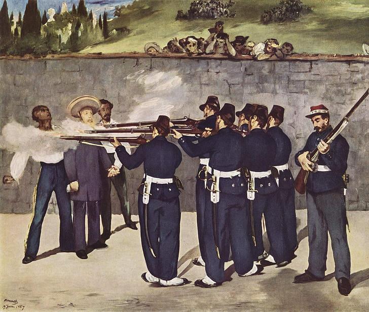 painting, execution, firing, emperor, mexico, 1867, édouard manet