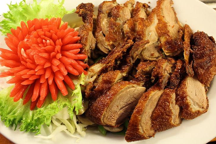 Restaurant, aliments, menjar, cuina, sopar, carn, àpat