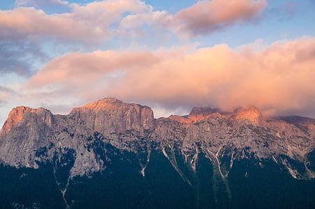 núvols, muntanya, natura, muntanya rocosa
