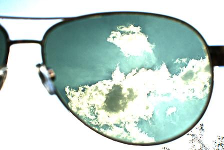 bisell, núvol, cel, blau, sol, contra el dia, contrasten