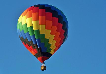 luftballong, Festival, kul, flygplan, gul, röd, upphov