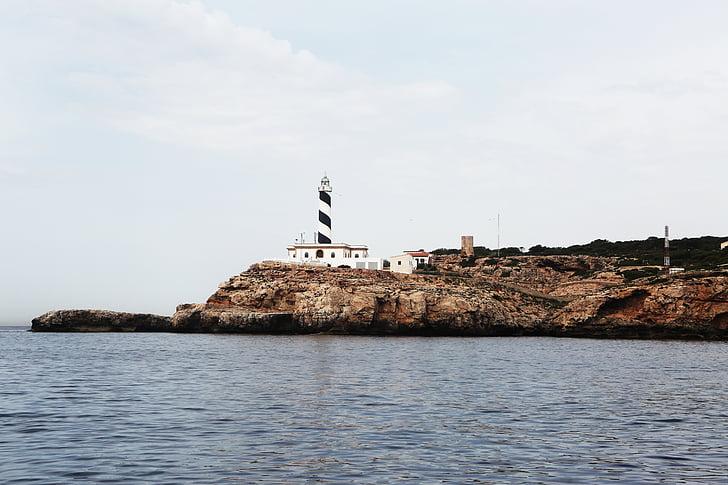 Costa de penya-segat, Costa, Far, roques, Mar, Costa