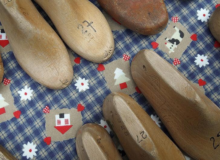 รองเท้า, ไม้, ฟุต, แบบฟอร์ม, ชูเมกเกอร์, รองเท้า, เท้า