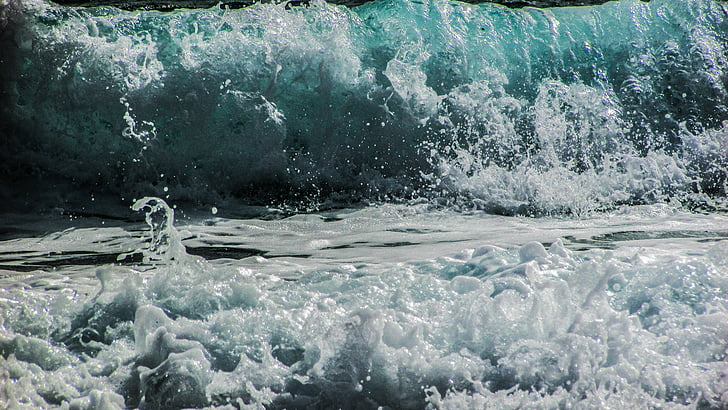 hullám, tenger, víz, Shore, Beach, Splash, hab