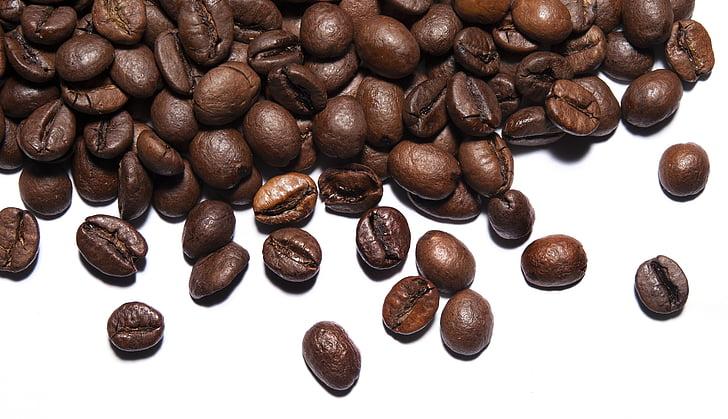caffè, chicchi di caffè, grani, fagiolo, marrone, caffeina, caffè - bevande